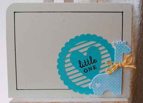 handmade card, giraffe card, baby card, heart card, blue, turquoise, papertrey ink, make it monday, sweet baby stamp set, silhouette cameo die cut, twinery, young crafters unite, sweet stampin' challenge
