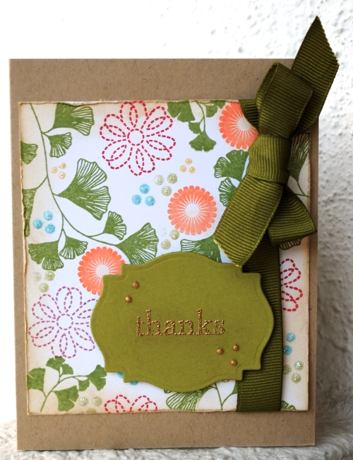 handmade card, handmade card singapore, thank you card, really reasonable ribbon, top tip tuesday, craft your passion, challenge, papertrey ink, make it monday, harvest berries