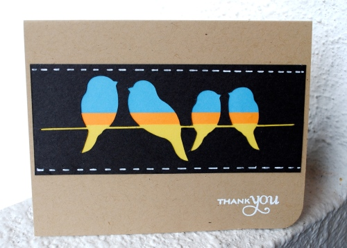 handmade card, handmade card singapore, bird card, bird silhouette, cas card, papertrey ink star prints, thank you card, CR84FN, city crafters challenge blog, lothian crafts