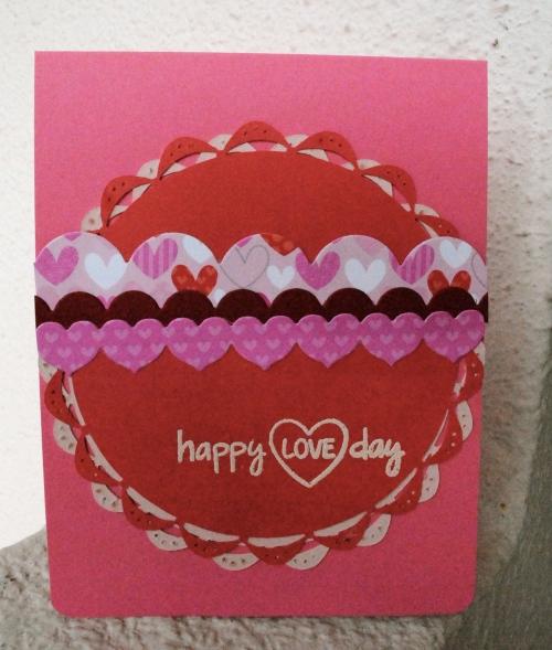 handmade card, handmade valentines card, handmade card singapore, scallops, heart border die, pink cards, challenge