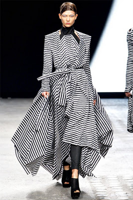 runway inspired challenge, gareth pugh 2012, handmade card, chevron, stripes