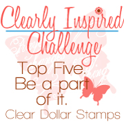 clearly inspired challenge winner, handmade card singapore, valentines card handmade