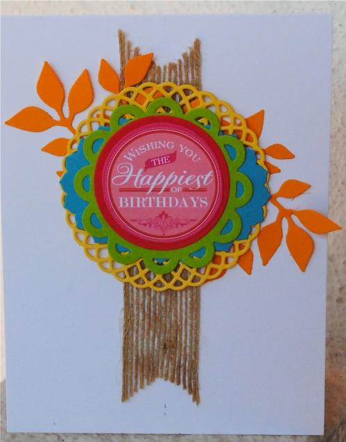 handmade card, handmade card singapore, papertrey ink, challenge, jute ribbon, limitless layers dies, sizzix leaves die, digi