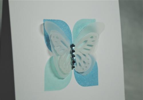 handmade card, handmade card singapore, aqua, blue, green, clean and simple, papertrey ink modern basics, hero arts shadow inks, pti signature buttlerfly