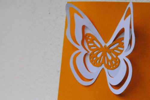 papertrey ink, papertrey princesses challenge, handmade card, handmade card singapore, handmade card butterfly, silhouette cameo butterfly