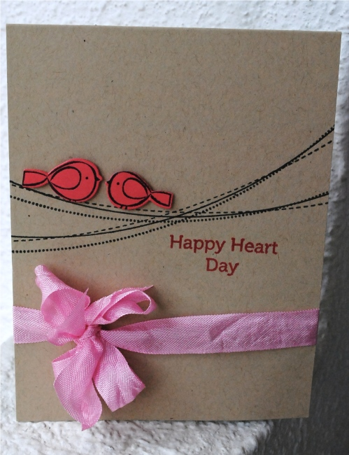 valentines day handmade card, same sex valentines day card, same gender relationship card, handmade, papertrey ink, little bitty birds
