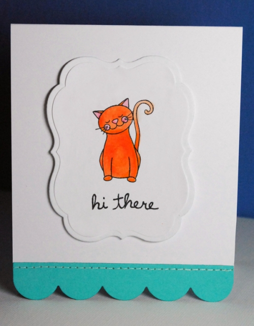 singapore copic markers, singapore handmade card, cat handmade card, ginger cat card