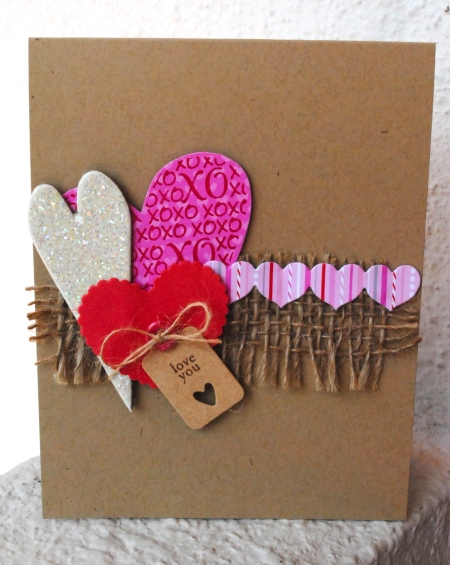 handmade card, handmade valentine's day card, handmade valentine's card singapore, pinterest inspired, papertrey ink heart dies, tiny tags